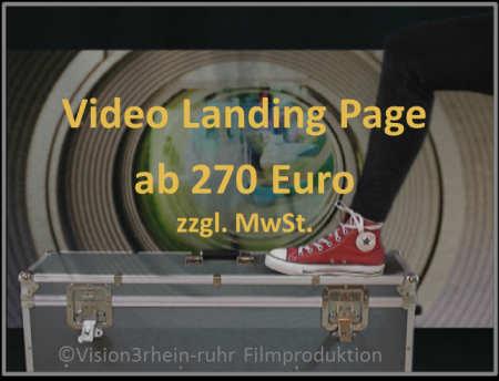 Preis für Video Landing Page